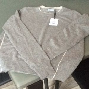 Vince Tipped Crewneck Sweater